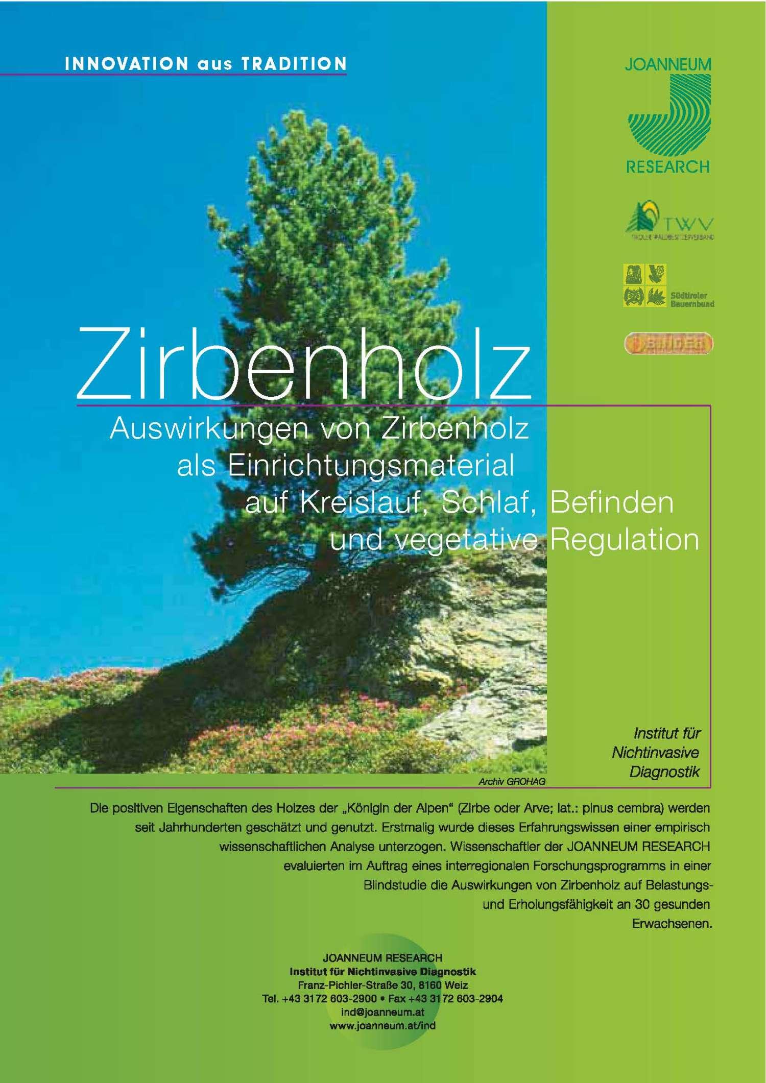 Zirbenholz-Studie-Schlaf